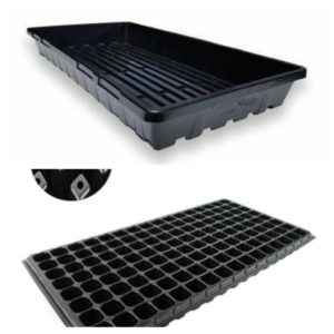 128 HOLES SEEDLING TRAY WITH BOTTOM WATERING TRAY (IMPORTED QUALITY)