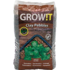HYDROPONICS Grow!T Horticultural Clay Pebbles 25 litre bag (USA IMPORTED)