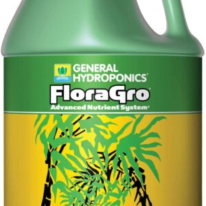 General Hydroponics FloraGro 2-1-6, Use with FloraMicro & FloraBloom, Provides Nutrients for Structural & Foliar Growth Ideal for Hydroponics, 1-Gallon, 1 Gallon, Green