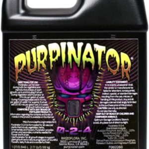Rhizoflora Purpinator – Specialty Plant Nutrient Additive – Improves Color, Enhances Aromatics and Flavors, Gives More Potency to Your Plants (32oz)